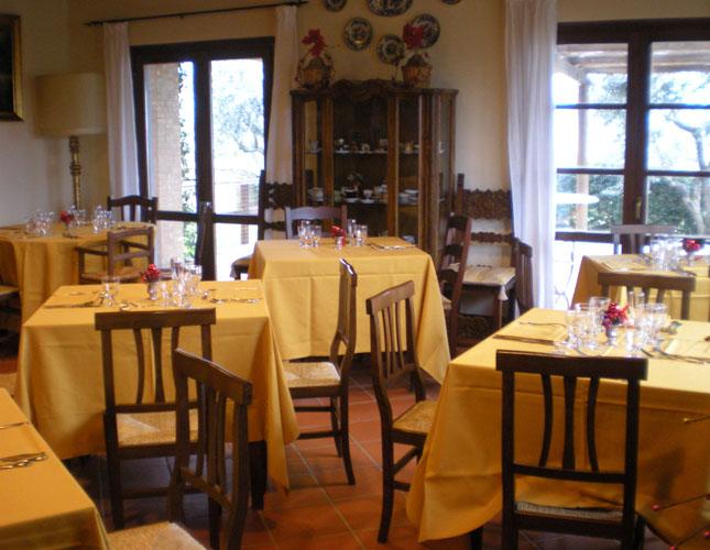 L'accogliente sala del ristorante