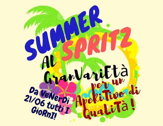 Tutti i giorni: Summer Spritz a soli € 3,50